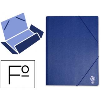 Carpeta Liderpapel gomas tamaño folio solapas plástico color azul