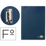 Carpeta Liderpapel miniclip lateral tamaño folio plástico color azul