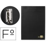 Carpeta Liderpapel miniclip lateral tamaño folio plástico color negro