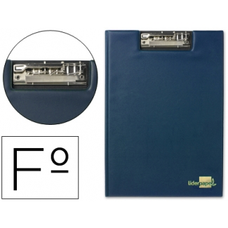 Carpeta Liderpapel miniclip superior tamaño folio plástico color azul