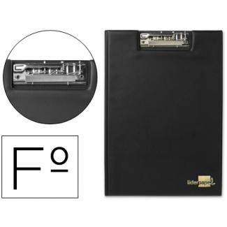 Carpeta Liderpapel miniclip superior tamaño folio plástico color negro