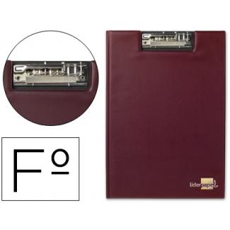 Liderpapel MS05 - Carpeta portanotas con pinza, plástico, tamaño folio, color rojo