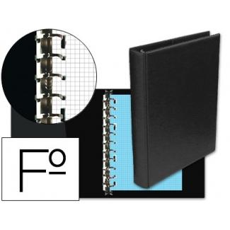 Multifin 4013567 - Carpeta de anillas, 16 anillas múltiples de 40 mm, plástico, tamaño folio, color negro