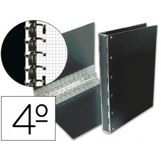 Carpeta Multifin fibra 11 anillas 40 mm tamaño cuarto