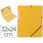 Carpeta Q-Connect gomas cartón simil-prespan tamaño A4 color amarillo