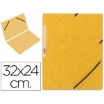 Carpeta Q-connect gomas cartón simil-prespan tamaño A4 color amarillo