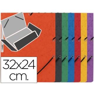 Opina sobre Carpeta Q-Connect gomas cartón simil-prespan solapas tamaño A4 colores surtidos roja-amarilla-azul-verde-naranja
