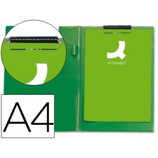 Carpeta Q-connect miniclips plástico tamaño A4 color verde