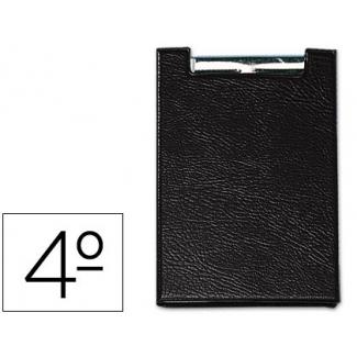 Saro 160-NE - Carpeta portanotas con pinza, plástico, tamaño cuarto, color negro
