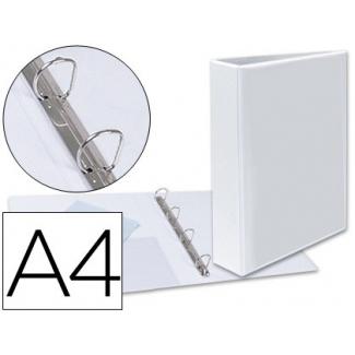Esselte 55295 - Carpeta canguro, 4 anillas mixtas de 40 mm, tamaño A4+, color blanco