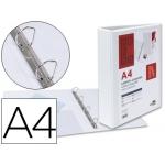 Liderpapel KG44 - Carpeta canguro, 4 anillas mixtas de 40 mm, tamaño A4, color blanco
