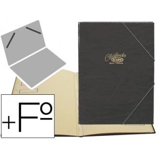 Carpeta clasificador Saro tamaño folio prolongado color negro