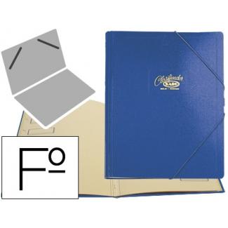 Saro 30-A - Carpeta clasificadora con gomas, tamaño folio+, 12 departamentos, color azul