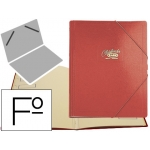 Carpeta clasificador cartón compacto Saro tamaño folio color roja 12 departamentos