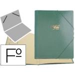Carpeta clasificador cartón compacto Saro tamaño folio color verde 12 departamentos