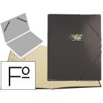 Carpeta clasificador cartón compacto Saro tamaño folio negra 12 departamentos