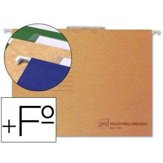 Elba Gio 400021952 - Carpeta colgante, tamaño folio prolongado, visor superior, kraft bicolor