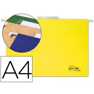 Carpeta colgante Gio tamaño A4 amarilla