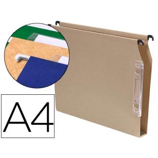 Carpeta colgante Gio tamaño A4 visor lateral color kraft
