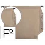 Carpeta colgante Hamelin tamaño folio visor lateral color kraft eco