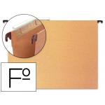 Carpeta colgante Hamelin tamaño folio visor superior color kraft eco
