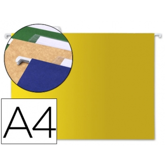 Liderpapel SF04 - Carpeta colgante, tamaño A4, visor superior, color amarillo
