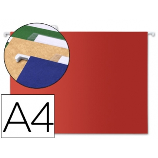 Liderpapel SF06 - Carpeta colgante, tamaño A4, visor superior, color rojo