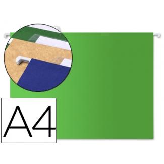 Liderpapel SF07 - Carpeta colgante, tamaño A4, visor superior, color verde