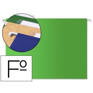 Carpeta colgante Liderpapel tamaño folio color verde