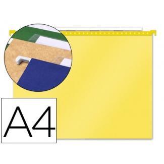 Carpeta colgante PaperFlow polipropileno amarillo transparente