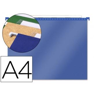 Carpeta colgante PaperFlow polipropileno azul transparente