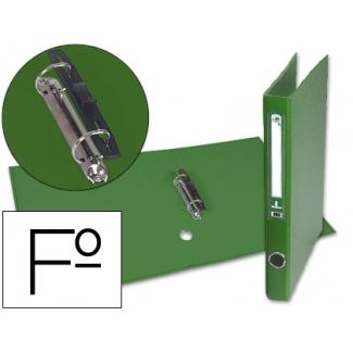 Liderpapel AY16 - Carpeta de anillas, 2 anillas mixtas de 40 mm, cartón forrado, tamaño folio, color verde