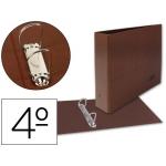 Carpeta de 2 anillas 25 mm mixtas Liderpapel tamaño cuarto apaisado cartón cuero forrado compresor plástico