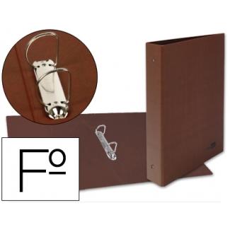 Carpeta de 2 anillas 25 mm mixtas Liderpapel tamaño folio cartón cuero forrado compresor plástico