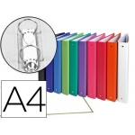 Carpeta de 2 anillas 30 mm redondas Exacompta tamaño A4 cartón forrado colores surtidos