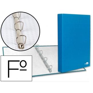 Liderpapel CA23 - Carpeta de anillas, 4 anillas mixtas de 25 mm, tamaño folio, color azul frosty