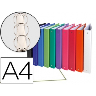 Carpeta de 4 anillas 30 mm redondas Exacompta tamaño A4 cartón forrado colores surtidos