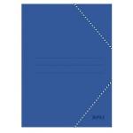 Carpeta de cartón con gomas y solapas tamaño folio color azul Apli