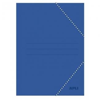 Apli 15447 - Carpeta de cartón con gomas y solapas, tamaño folio, color azul