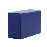 Carpeta de proyectos Pardo tamaño folio lomo 200 mm cartón forrado color azul con broche