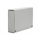 Carpeta de proyectos Pardo tamaño folio lomo 70 mm cartón forrado color gris con broche