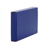 Carpeta de proyectos Pardo tamaño folio lomo 90 mm cartón forrado color azul con broche