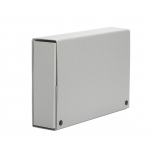 Carpeta de proyectos Pardo tamaño folio lomo 90 mm cartón forrado color gris con broche