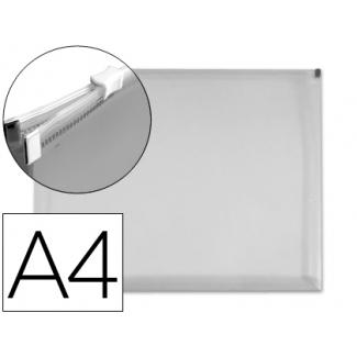 Carpeta dossier Liderpapel tamaño A4 cierre de cremallera transparente