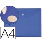 Carpeta dossier Liderpapel tamaño A4 cierre de velcro color azul