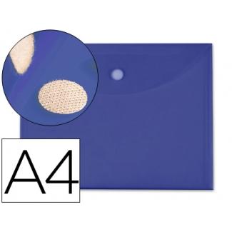 Carpeta dossier Liderpapel tamaño A4 cierre de velcro color azul oscuro