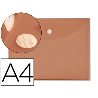 Liderpapel BY03 - Dossier con velcro, A4, 180 micras, capacidad para 50 hojas, color naranja
