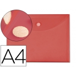 Carpeta dossier Liderpapel tamaño A4 cierre de velcro color roja