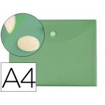 Carpeta dossier Liderpapel tamaño A4 cierre de velcro color verde