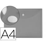 Liderpapel BY05 - Dossier con velcro, A4, 180 micras, capacidad para 50 hojas, color gris